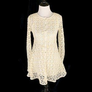 Free People Beach Crochet Mini Dress Size XS
